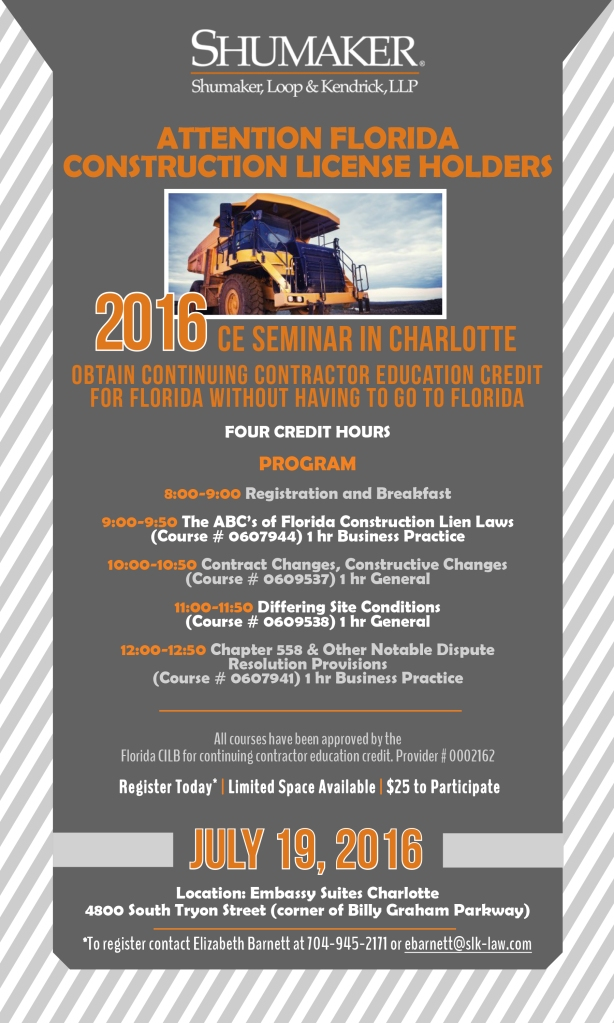 CHA Construction Law Seminar